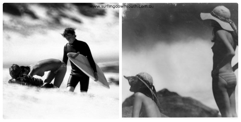 1973-75 Beach girls Lefthanders collage_photocat
