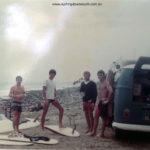 1967 NSW Crescent Heads Mike Byron, Greg Wynne, Darryl McGowan & Nev Gangel with Greg's Kombi.  Darryl McGowan pic IMG_5186