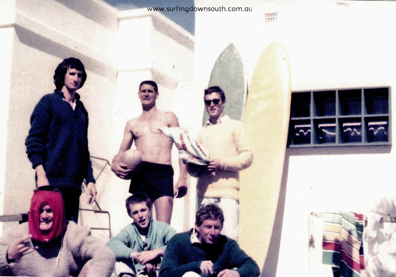 1958 City Beach B Huddle, T Harbison, A Taylor, D Williams, C taylor, Moonshine John Budge pic