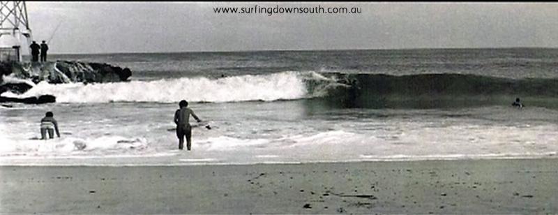 1960s City Beach groyne surfing - Tom Collins pic NVE00028