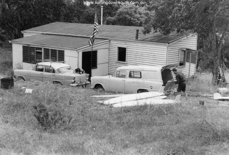 1962 Yalls WCBC shack L Burke's FB Holden & Ghost's Holden panel van - Brian Cole pic img268