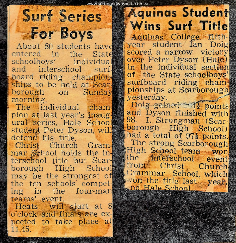 1965-66 Scarborough State Schoolboys comp results - Daily News IMG_001