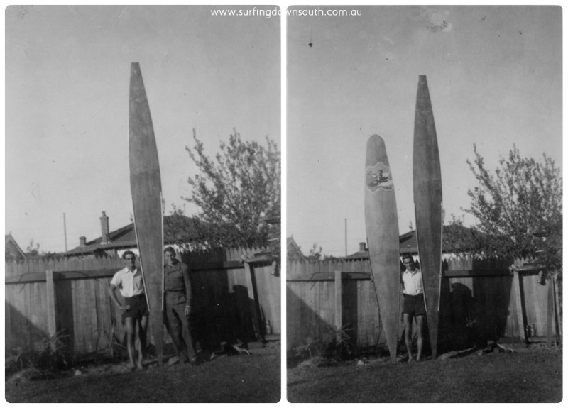 1955 Ray Geary & Rob Wakefield surfboards collage_photocat