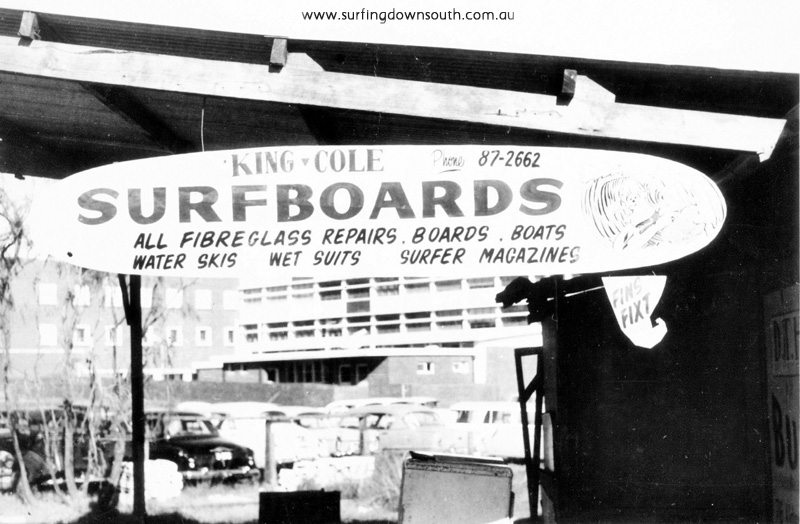 1961 King & Cole Surfboards Roydhouse St Wembley sign writer Ray Geary - Brian Cole IMG_0001a