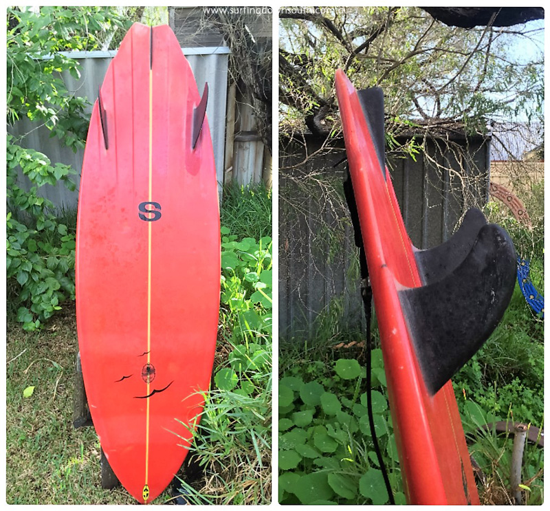 2001 Tom Hoye twin fin with keel fin - Wade Jancey pic