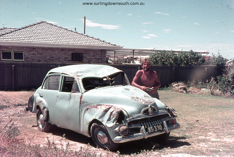 1967 Scarb Muzz's FJ Holden rolled over Caves Rd SW - Jim Breadsell pic1