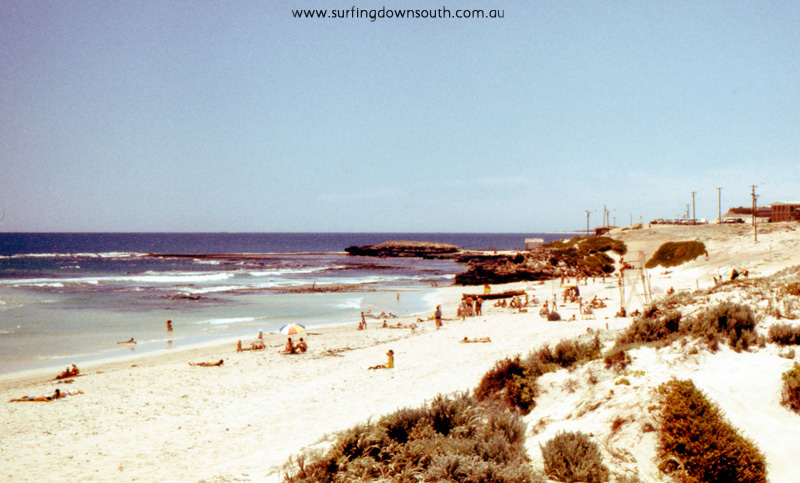 1969 Trigg Beach with shacks on beach - Jim Breadsell pic