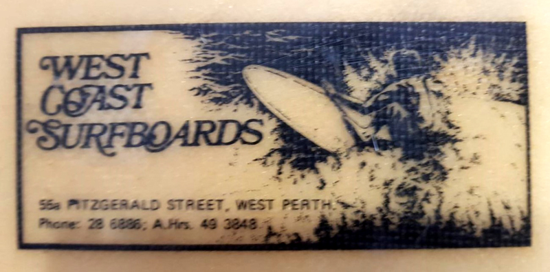 1969 West Coast Surfboard With Peter Bothwell Image On